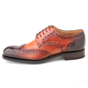Ugo Vasare Handh Camel Burnished Leather Wingtip Oxfords