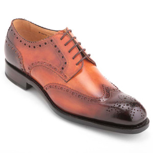 Ugo Vasare Handh Camel Burnished Leather Wingtip Brogue
