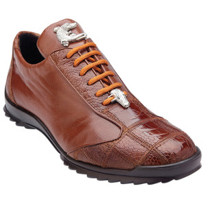 Belvedere Paulo Honey Ostrich & Calfskin Men's Sneakers