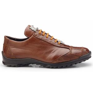 Belvedere Paulo Honey Ostrich & Calfskin Sneakers