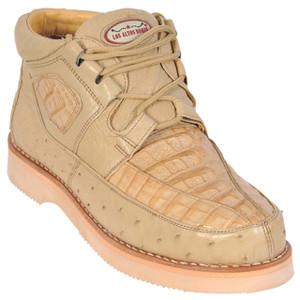 Los Altos Oryx Caiman & Ostrich Skin Casual Sneakers