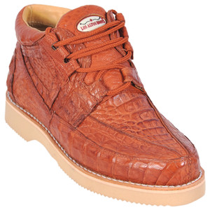 Los Altos Cognac Full Caiman Skin Casual Sneakers