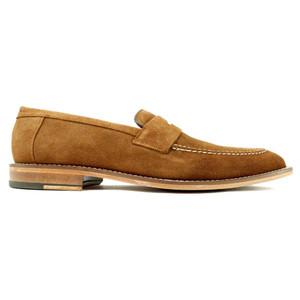 Alan Payne Brockton Snuff Genuine Suede Loafers