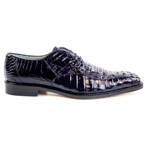 Belvedere Chapo Navy Genuine Crocodile Oxfords