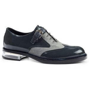 Tacito Charcoal & Grey Genuine Leather & Suede Oxfords by Mauri