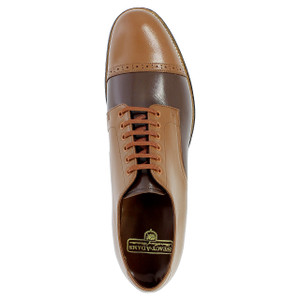 Stacy Adams Madison Oak & Brown Leather Oxfords