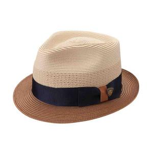 Dobbs Camarillo Sand & Cognac Vented Crown Milan Straw Hat