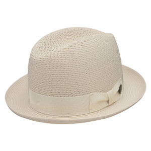 Dobbs Madison Beige Vented Crown Milan Straw Hat