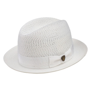 Dobbs Madison White Vented Crown Milan Straw Hat
