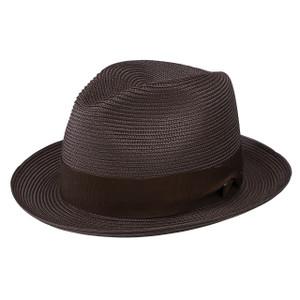 Dobbs Rosebud Brown Florentine Milan Straw Hat