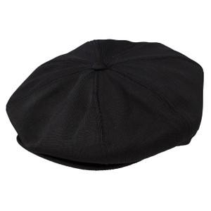 Dobbs Wellington Black Poly Knit Gatsby Cap