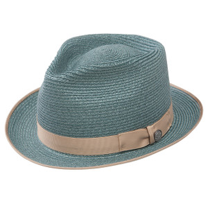 Stetson Inwood Turquoise Hemp Braid Firm Finish Straw Hat