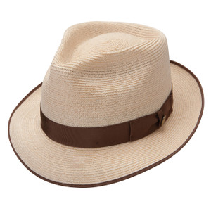 a3242399e01 Stetson Rockport Natural Shantung Firm Finish Straw Hat
