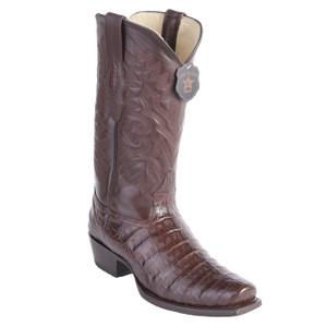Los Altos Brown Caiman Belly 7 Toe Boots