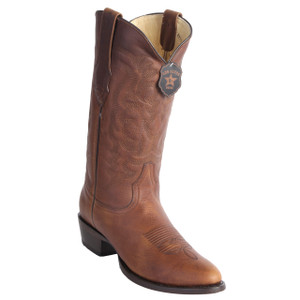Los Altos Honey Rage Leather Round Toe Boots