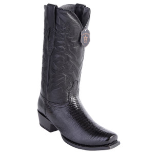 Los Altos Black Teju Lizard Exotic Boots