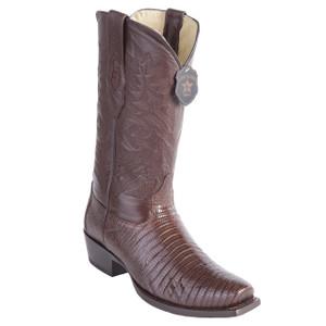 Los Altos Brown Teju Lizard Exotic Boots