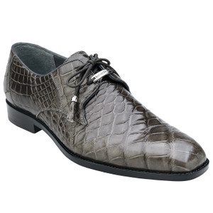 Belvedere Lago Grey Genuine Alligator Men's Oxfords