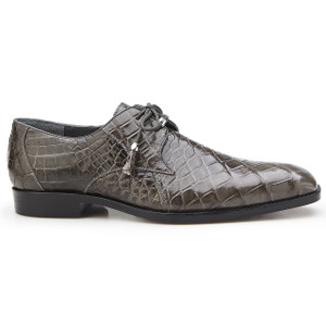Belvedere Lago Grey Genuine Alligator Oxfords