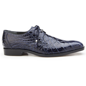 Belvedere Lago Navy Genuine Alligator Oxfords