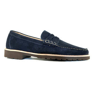 Alan Payne Todd Blue Suede Dress Loafers