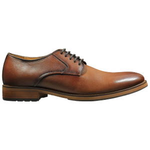 Florsheim Cognac Leather Plain Toe Oxfords
