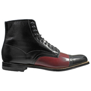 Stacy Adams Madison Black & Blood Leather Ankle Boots
