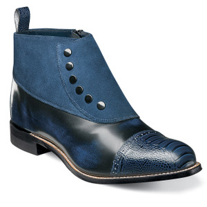 Stacy Adams Madison Navy Leather & Suede Ankle Boots