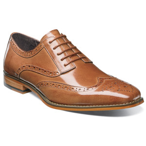 Stacy Adams Tinsley Tan Leather Wingtip Oxfords