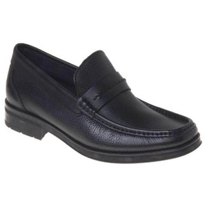 Sandro Moscoloni Duero Black Leather Penny Loafers