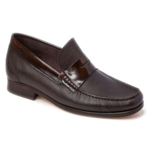 Sandro Moscoloni Bilbao Dark Brown Leather Penny Loafers