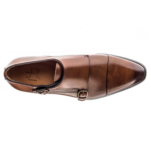 Jose Real Cognac Leather Double Monkstraps