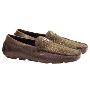 Vestigium Brown Python & Leather Loafers