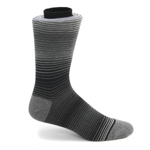 Tallia Black & Grey Multicolor Stripped Socks