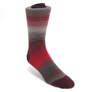 Tallia Grey & Red Multicolor Stripped Socks