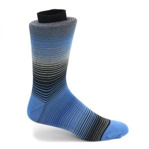Tallia Navy & Blue Multicolor Stripped Socks