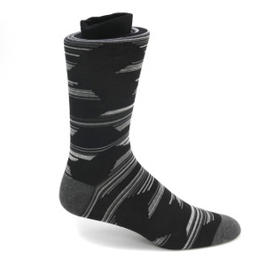Tallia Black & Grey Stripped Multi-toned Socks