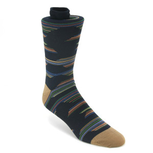 Tallia Grey & Blue Stripped Multi-toned Socks