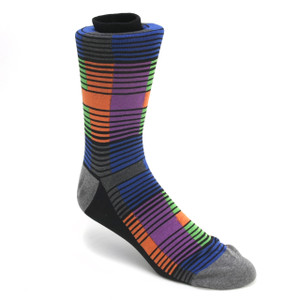 Tallia Black Multicolor Stripped Socks