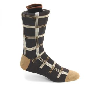 Tallia Brown & Beige Patterned Multi-toned Socks