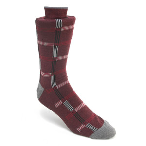 Tallia Burgundy & Black Patterned Multi-toned Socks