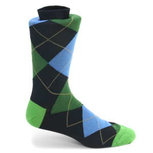 Tallia Navy, Green & Blue Multi-toned Printed Socks