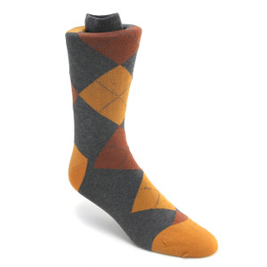 Tallia Grey & Gold Multi-toned Printed Socks