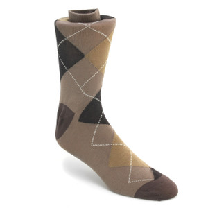 Tallia Brown Multi-toned Printed Socks