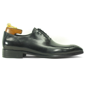 Carrucci Black Calfskin Leather Toned Oxfords
