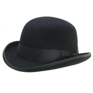 Bigalli Bowler Black Wool Felt Hat