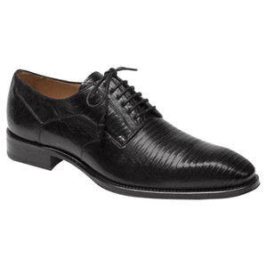 Mezlan Pegaso Black Lizard Skin Exotic Oxfords