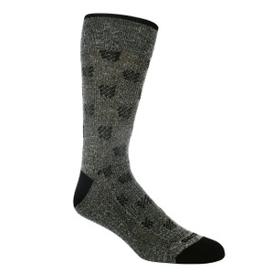 Remo Tulliani Cherokee Charcoal and Black Dress Socks