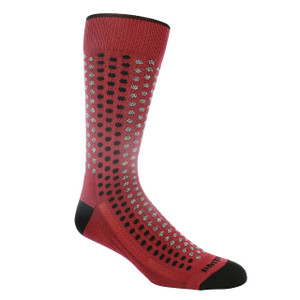 Remo Tulliani Iroquois Cardinal & Multi Dress Socks