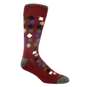 Remo Tulliani Gelding Cardinal & Multi Patterned Socks